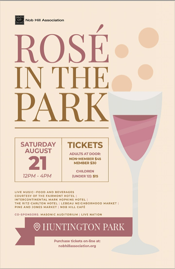Rosé & BBQ in Huntington Park 2021 - hosted by Nob Hill Association image