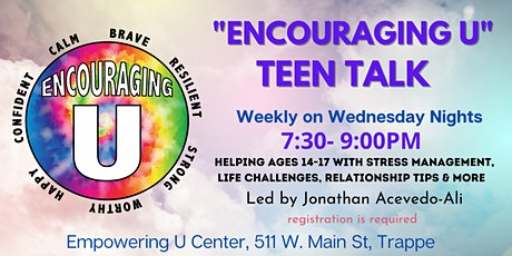 """""""Encouraging U"""" for Teens - IN-PERSON tickets"""