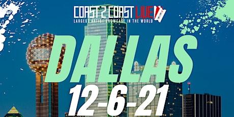 Coast 2 Coast LIVE Artist Showcase Dallas - Artists Win $50K tickets