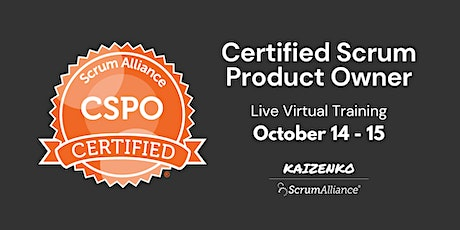 Certified Scrum Product Owner (CSPO) Training tickets