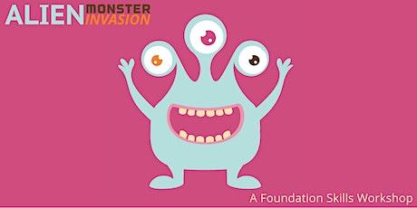 Foundation Adobe Photoshop and Illustrator • Alien Monster Invasion tickets