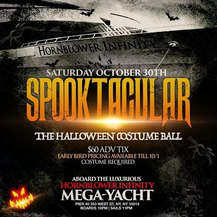 10/30-SPOOKTACULAR - A Halloween Costume Yacht party aboard the Hornblower image