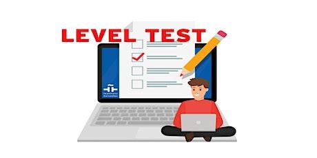 ONLINE SPANISH LEVEL TEST  29/09/2021 tickets