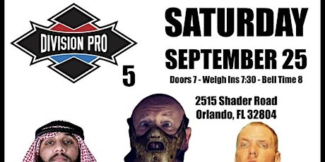 Division Pro 5 tickets