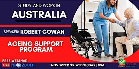 FREE WEBINAR: AGEING SUPPORT PROGRAM WITH EINSTEIN COLLEGE AUSTRALIA tickets