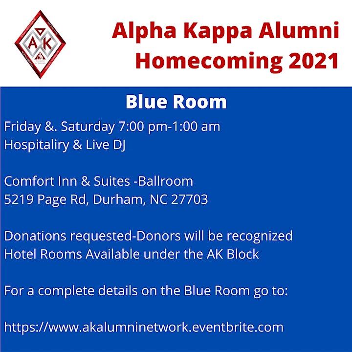 Alpha Kappa Chapter Blue Room Homecoming Hospitality image