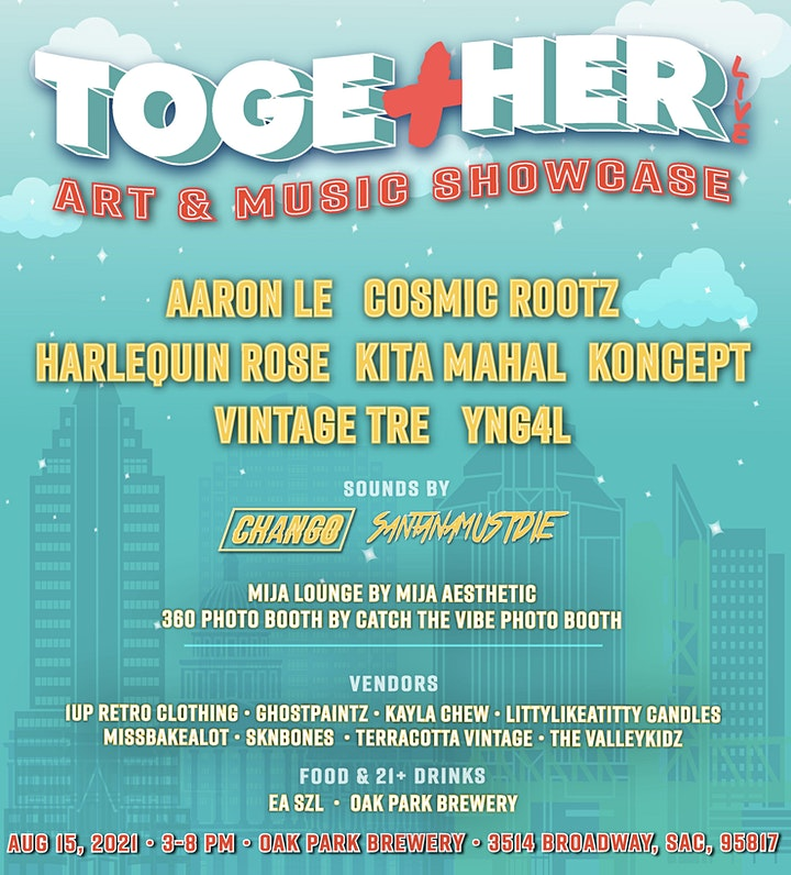 New Date & Location:TOGE+HER LIVE Art & Music Showcase image