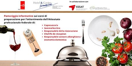 Scopri i corsi APF  settore alberghiero, ristorazione ed economia domestica biglietti
