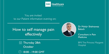 How to self manage pain effectively tickets