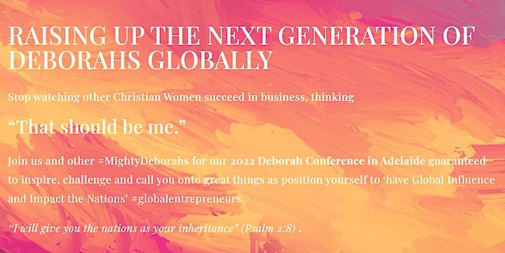 The Deborah Conference 2022 Adelaide image