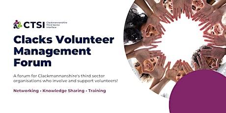 Clackmannanshire Volunteer Management Forum - November 2021 tickets