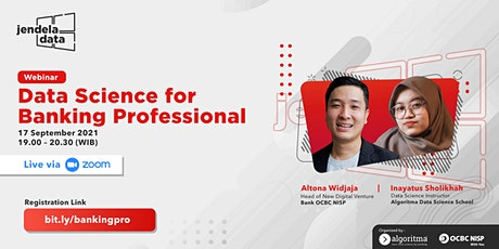 WEBINAR: DATA SCIENCE FOR BANKING PROFESSIONAL tickets