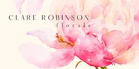 Watercolour Workshops - Painting Seasonal Flowers (Stirling Nov '21) tickets