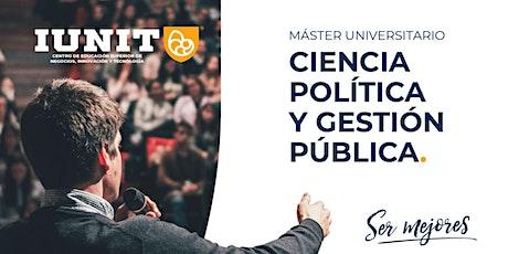 Máster Universitario en Ciencia Política y Gestión Pública 2021-2022 billets