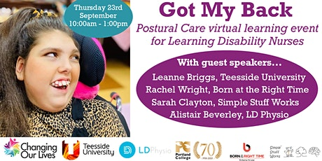 Got My Back - Postural Care learning event for Learning Disability Nurses tickets