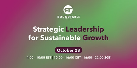 Strategic Leadership for Sustainable Growth tickets