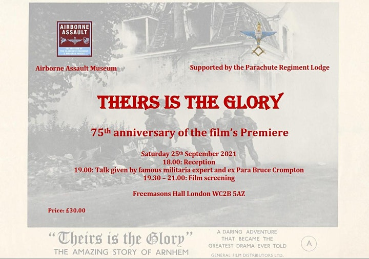 """""""Theirs is the Glory"""" 75th Anniversary Gala Screening image"""