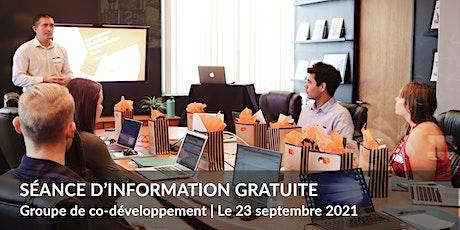 Communautés de co-développement - Séance d'information billets