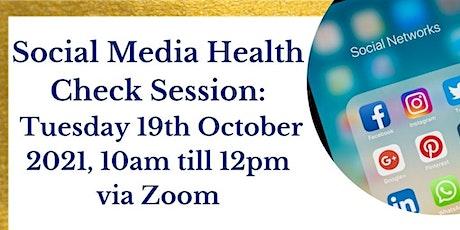 Social Media Health Check Session tickets