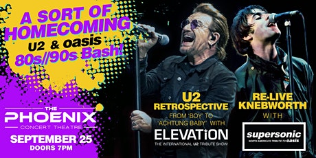 A Sort of Homecoming:  U2 and Oasis 80s///90s SUPERBASH tickets