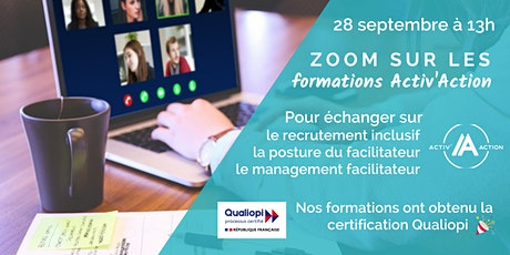 Zoom sur les formations Activ'Action tickets