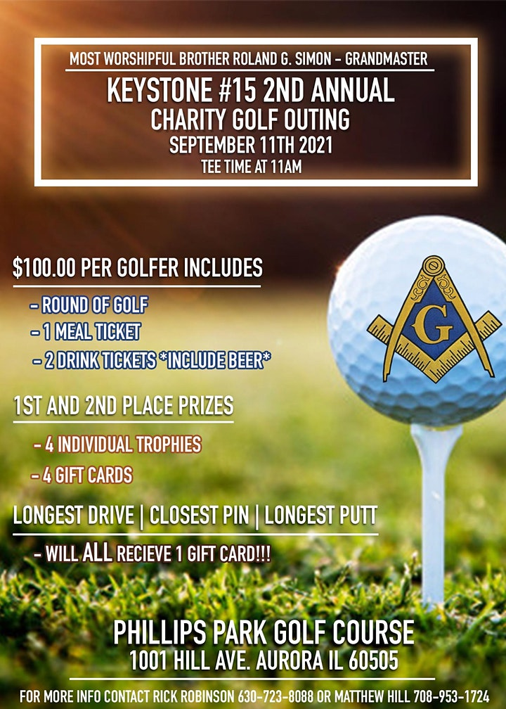 Keystone Lodge #15's second Annual charitable Golf Outing image