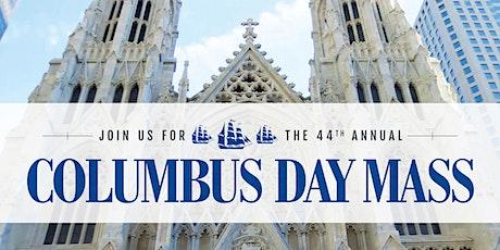 Columbus Day Mass tickets