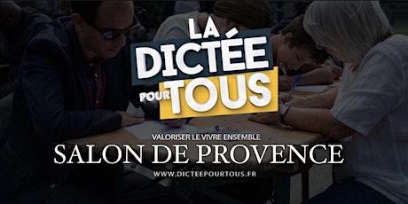 La dictée pour tous à Salon de Provence billets