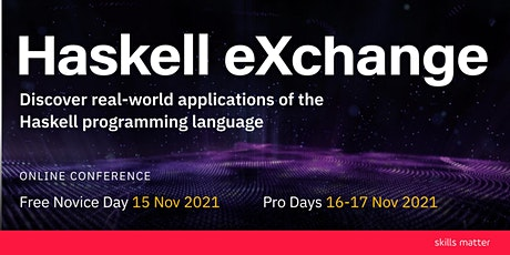 Haskell eXchange 2021 tickets