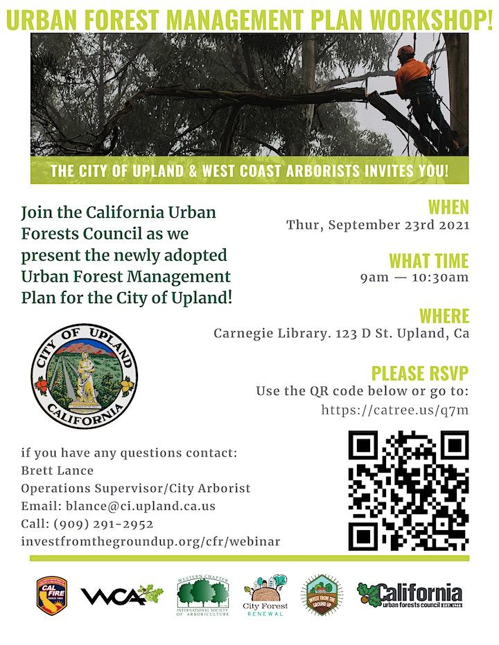 The City of Upland's Urban Forest Management Plan Workshop image