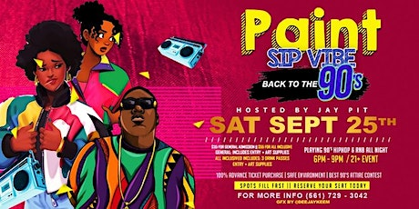 90's Paint and Sip tickets