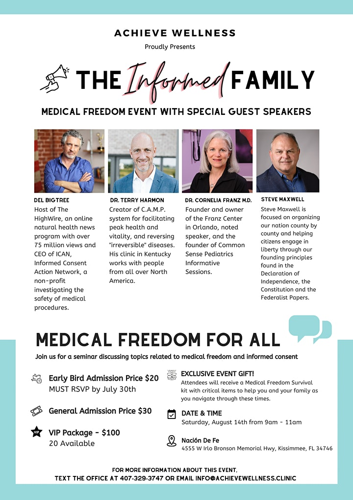 The Informed Family Medical Freedom Event image