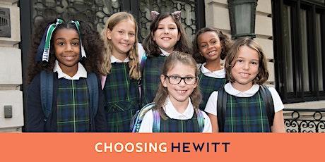 Choosing Hewitt: The Lower School (Kindergarten - Grade 4) tickets