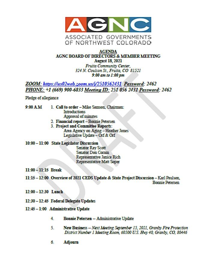 AGNC August 2021 Board & EDD Meeting image