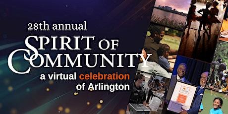 2021 Spirit of Community Virtual Event tickets