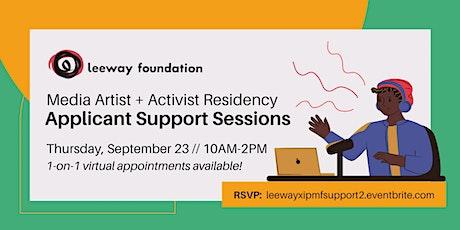 9/23 Applicant Support //  Leeway x IPMF Media Artist + Activist Residency tickets