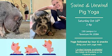 Swine & Unwind: Pig Yoga tickets