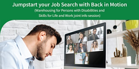 Jumpstart your Job Search with Back in Motion tickets