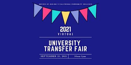 2021 Virtual University Transfer Fair tickets