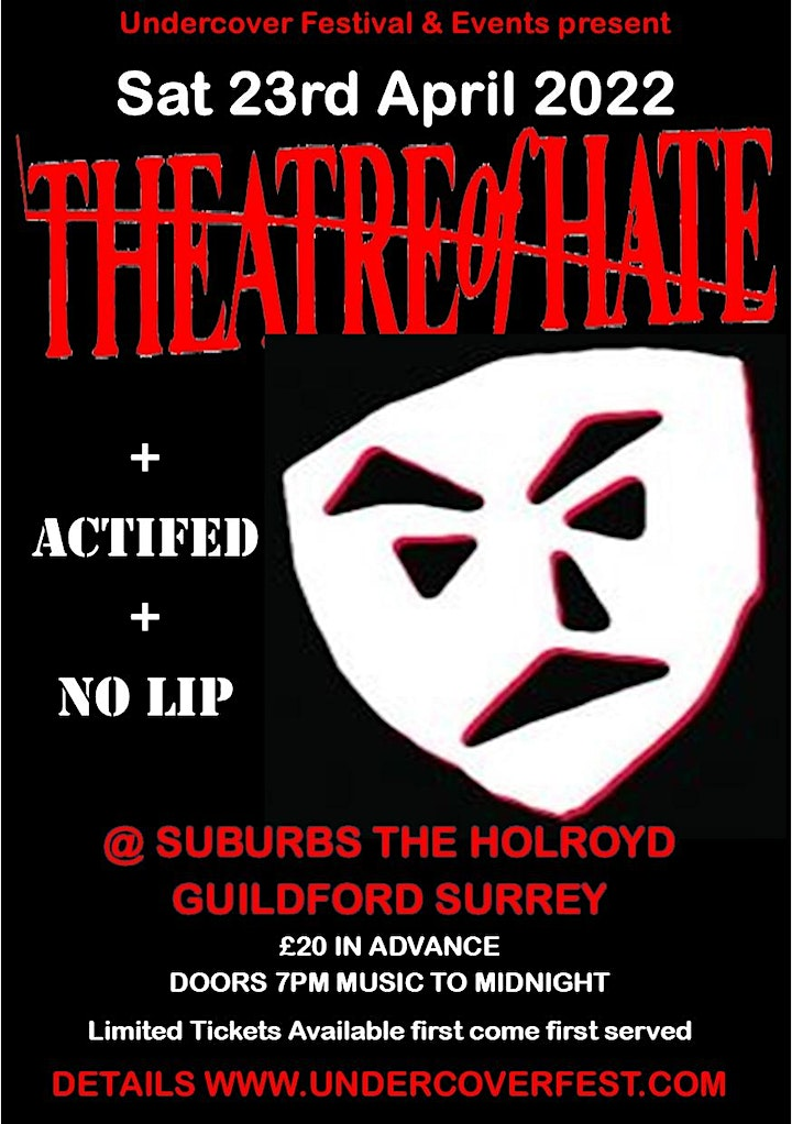 THEATRE OF HATE + special guests in Guildford Surrey image