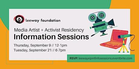 Info Sessions // Leeway x IPMF Media Artist + Activist Residency tickets