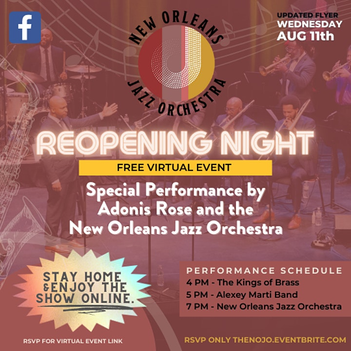 New Orleans Jazz Orchestra Reopening Night at the New Orleans Jazz Market image