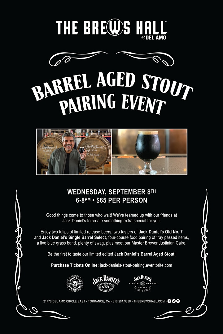 The Brews Hall Jack Daniels Stout Pairing Event image