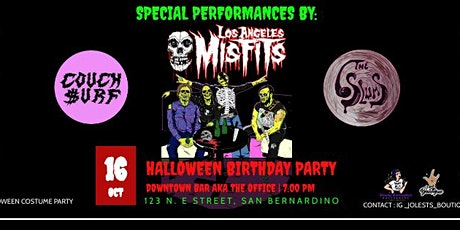 Halloween Birthday Party with Special performance  -Los Angeles Misfits tickets