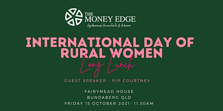 The Money Edge International Day of Rural Women Long Lunch tickets