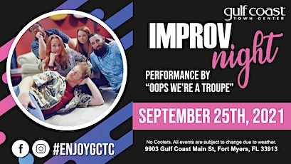 Improv Night - Oops we're a troupe tickets
