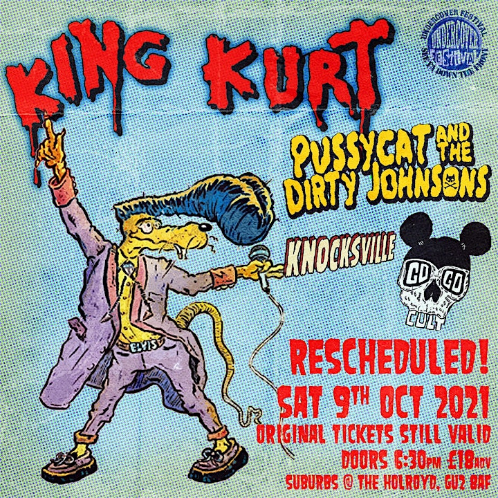 KING KURT & Very Special Guests Go Undercover  in Guildford (9th Oct) image