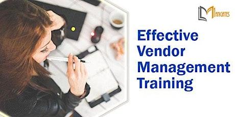Effective Vendor Management 1 Day Training in Bellevue, WA tickets