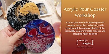 Acrylic Pour Coaster Workshop tickets