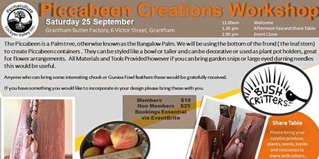 Piccabeen Creations Workshop tickets
